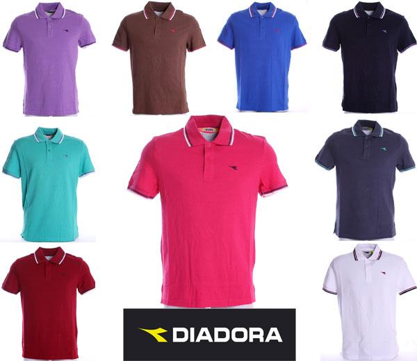 DIADORA-POLO-UOMO-T-SHIRT-PIQUET-MARE-SPORT-TENNIS-BARCA-CALCIO-15-COLORI