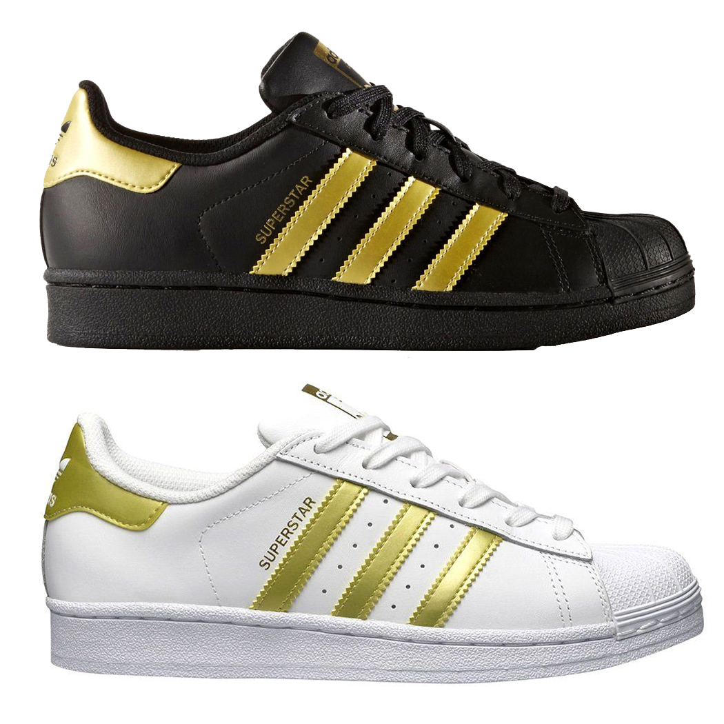 ADIDAS SUPERSTAR SCARPE SNEAKERS DONNA SHOES SPORT ORO SNEAKERS BB2870 BB2871