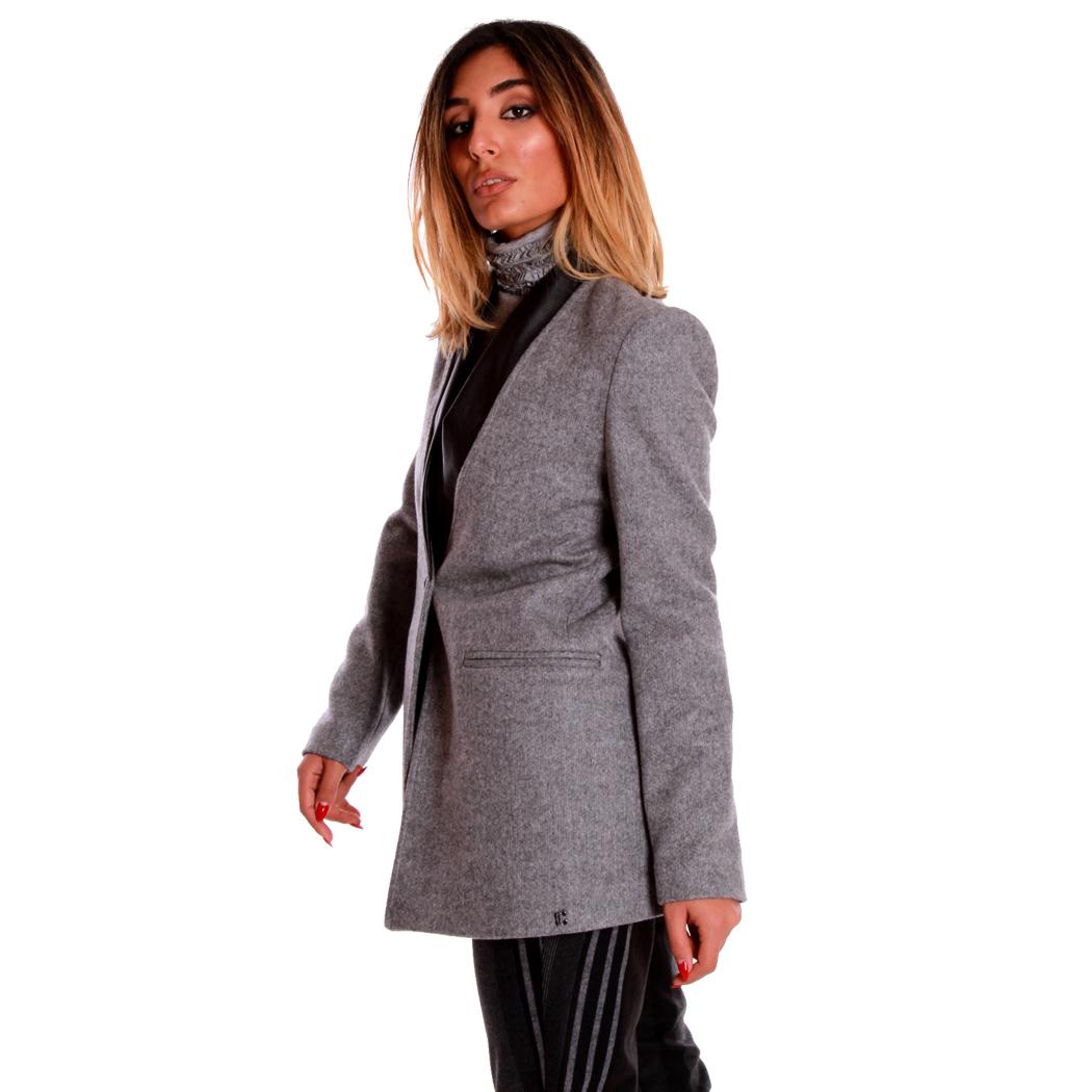 coconuda Cappotto Donna Woman Elegante 46 Nero Inverno
