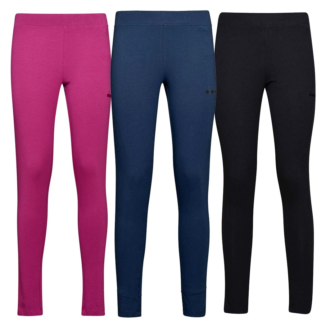 DIADORA L.STC LEGGINGS CHROMIA PANTALONI DONNA COTONE STRETCH SPORT 102.175410