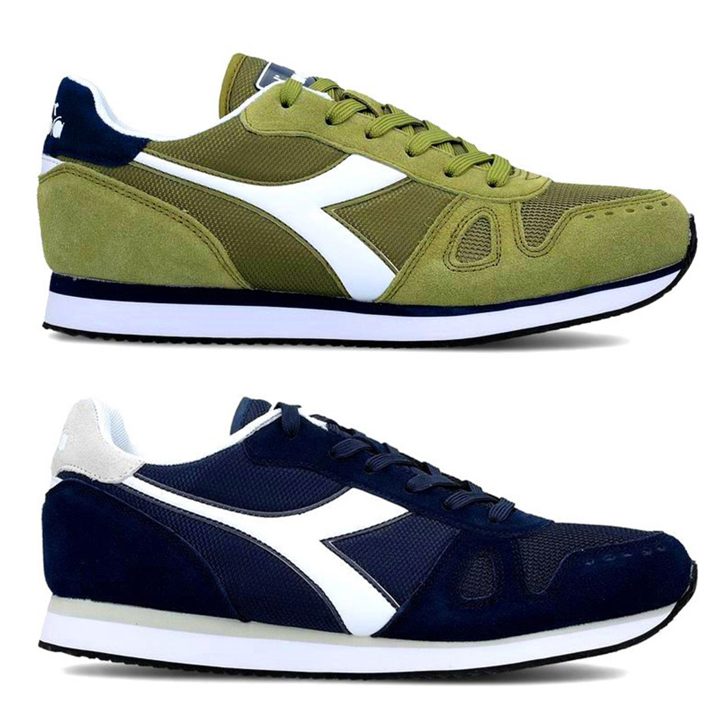 DIADORA SIMPLE RUN SCARPE SNEAKERS UOMO SHOES SUEDE SPORT CORSA 101.173745