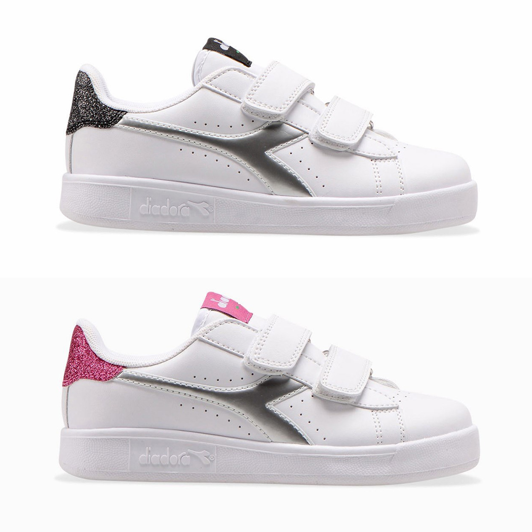 DIADORA GAME P TD GIRL SCARPE SNEAKERS BAMBINA STRAPPO SPORT RUN 101.176603