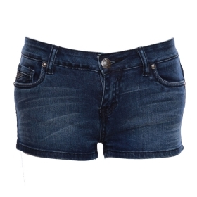YES-ZEE - MINI SHORTS JEANS PANTALONCINO DONNA COTONE SEXY MODA SPORT art. P206