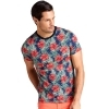 GUESS T-SHIRT UOMO MAGLIA COTONE STRETCH SPORT STAMPA FLOREALE M92I59K6XN0