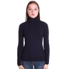 COCONUDA MAGLIA DONNA COLLO DOLCEVITA STRETCH LANA SWEATER T-SHIRT GIRL F9905N
