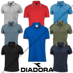 DIADORA SS POLO STRIPED OOC UO