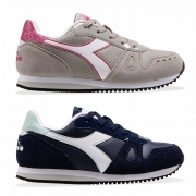 DIADORA SIMPLE RUN UP GS GIRL SCARPE BAMBINA STRAPPO SNEAKERS SPORT 101.176605