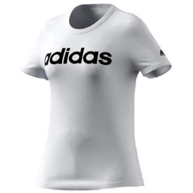 ADIDAS T-SHIRT ESSENTIALS SLIM LOGO MAGLIA DONNA COTONE STRETCH SPORT GL0768