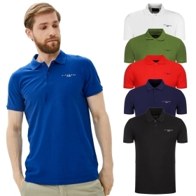 JOHN RICHMOND POLO UOMO PIQUET COTONE T-SHIRT MAGLIA REGULAR CON LOGO NILLY AP