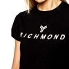JOHN RICHMOND T-SHIRT SLIM LOGO MAGLIA DONNA JERSEY STRETCH KATYA UWP21018TS